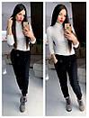 Женские спортивные штаны на флисе с карманами и на резинке 79bil409, фото 2