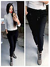 Женские спортивные штаны на флисе с карманами и на резинке 79bil409, фото 3