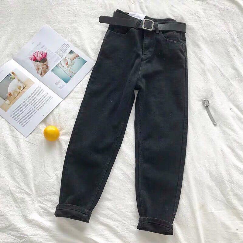 Женские джинсы с ремнем и немного зауженные к низу 68bil412