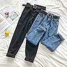 Женские джинсы с ремнем и немного зауженные к низу 68bil412, фото 2