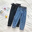 Женские джинсы с ремнем и немного зауженные к низу 68bil412, фото 3