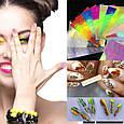 """3D голографические наклейки для ногтей  """"лист"""", фото 2"""