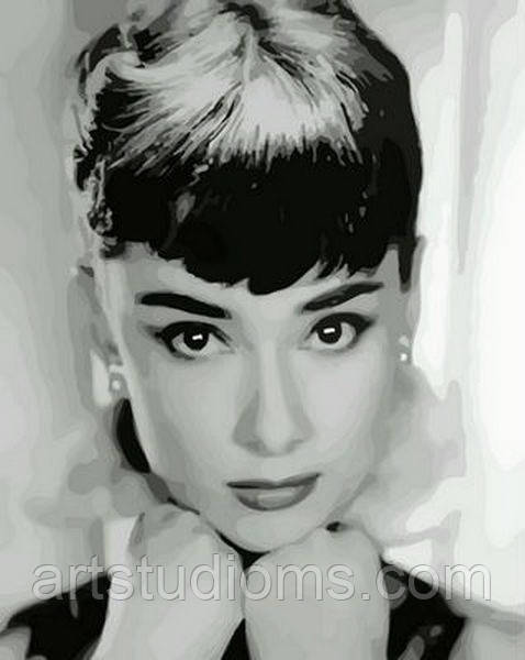 Картина по номерам Одри Хепберн 40 х 50 см (с коробкой)