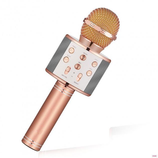Караоке микрофон Wster WS-1688 Bluetooth портативный Оригинал Розовый