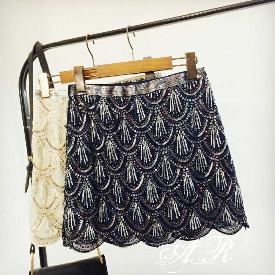 Женская короткая юбка чешуя из пайетки в расцветках 79jus341