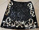 Короткая женская юбка с пайетками и узорами 79jus343, фото 4