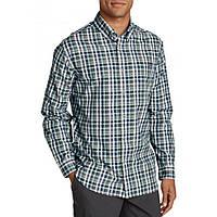 Рубашка Eddie Bauer Mens Long-Sleeve Poplin Shirt Nordic BLUE PLAID L Синий 8260BLPL-L, КОД: 1212708