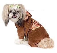 """Велюровый костюм """"ШАЙНИ""""  для собак, размер  S"""