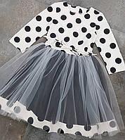 Платье для девочек оптом, 122-140 рр. Артикул: DRESS-горох