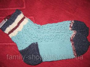 Шкарпетки вовняні ручної роботи, р. 37-39.