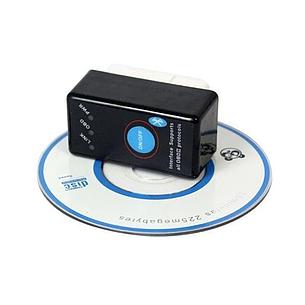 Универсальный авто сканер ELM327 OBD2 Bluetooth V2.1 с кнопкой питания цвет черный, фото 2