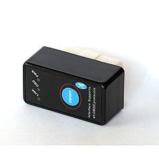 Универсальный авто сканер ELM327 OBD2 Bluetooth V2.1 с кнопкой питания цвет черный, фото 3