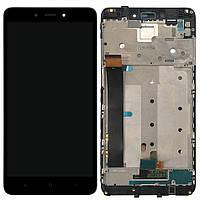 Экран (дисплей,lcd) Xiaomi Redmi Note 4 Helio X20 MediaTek с тачскрином (сенсором,touchscreen) и рамкой черный