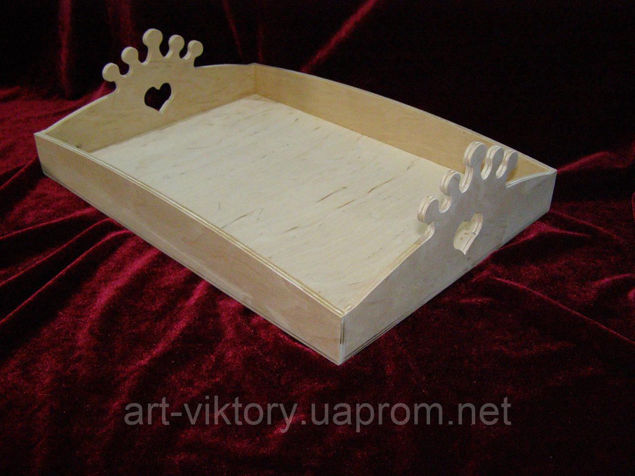 Кухонный поднос, разнос корона (25 х 35 см)