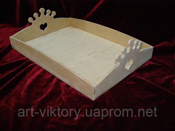 Кухонный поднос, разнос корона (25 х 35 см), фото 2