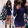 Платье,  стрейч-гофре с паетками.  Размер: 42-44. Разные цвета (5275), фото 7