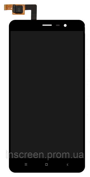 Дисплей Xiaomi Redmi Note 3, Redmi Note 3 Pro з сенсором (тачскрін) чорний (147мм)