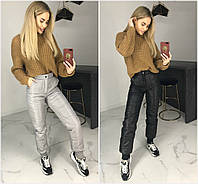 Р 42-46 Теплые балоневые штаны с манжетом 20741
