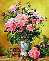 Картина по номерам цветы. Пионы в изящной вазе 40 х 50 см (с коробкой), фото 1