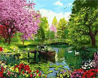 Картина по номерам природа. Вишневый сад 40 х 50 см (с коробкой), фото 1