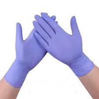 Перчатки нитриловые, 5 пар (10шт) фиолетовые