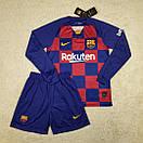 Футбольная форма Барселона Barcelona с длинным рукавом домашняя 19-20, фото 2