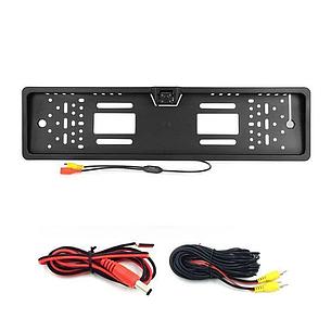Камера заднего вида в рамке номерного знака Interpower IP-616 16 LED лампочки цвет черный, фото 2