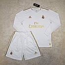 Футбольная форма Реал Мадрид Real Madrid с длинным рукавом домашняя 19-20, фото 2