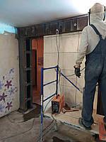 Резка проемов,стен с усилением металлом Харьков, фото 1
