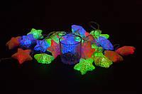 Гирлянды разноцветные звездочки 28 больших led лампочек