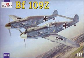 Модель немецкого самолета Messerschmitt Bf.109Z(Zwilling) в масштабе 1/72. AMODEL 72217