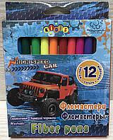 Фломастеры смываемые 12 цветов в картонной коробке 13314