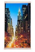 """Электрический инфракрасный настенный обогреватель-картина Trio """"Ночной Манхэттен"""""""