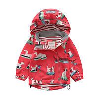 Детская куртка короткая демисезонная с принтом Собачки Meanbear