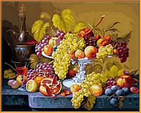 Картина по номерам цветы. Роскошный виноград (в раме) 40 х 50 см (с коробкой), фото 1