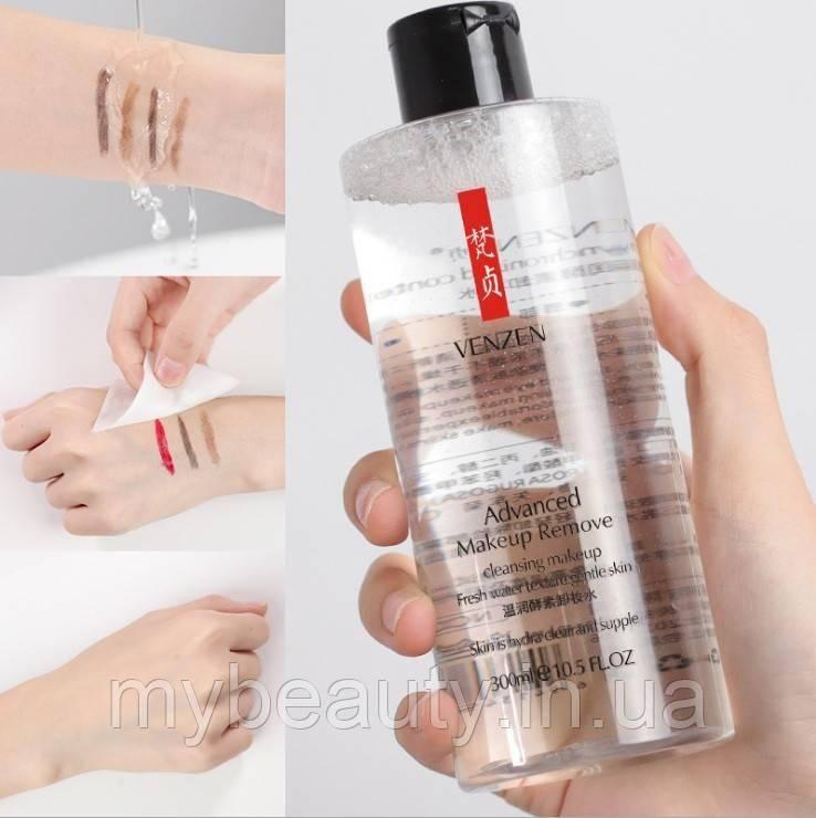 Глубоко очищающий ремувер для снятия любого вида макияжа Venzen Advanced Makeup Remover, 300 мл