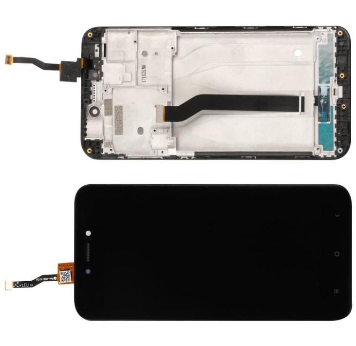Дисплей модуль Xiaomi Redmi 5A в зборі з тачскріном, чорний, з рамкою