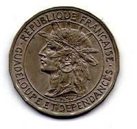 Гваделупа 1 франк 1903 год редкая