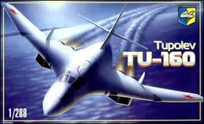 Советский стратегический бомбардировщик ТУ-160. Сборная модель в масштабе 1/288. CONDOR 28801