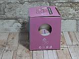 Новогодняя чашка с крышкой Снеговик розовый 300 мл, фото 5