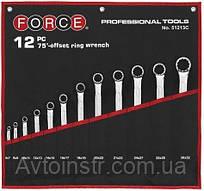 Набор ключей рожково-накидных отогнутых на 75° на полотне 12 пр. (6-32 мм)