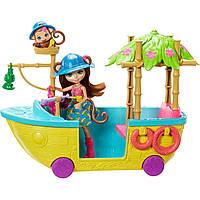 Набор игровой Enchantimals Корабль из Джунглолеса Мартышки Мерит   GFN58