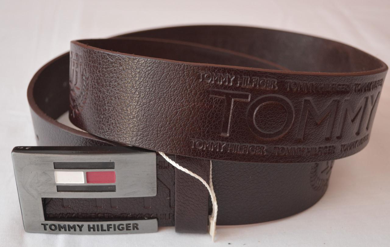 Кожаный мужской ремень Tommy Hilfiger (копия)