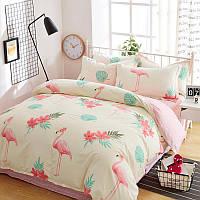 Уценка (дефекты)! Комплект постельного белья Большие фламинго (полуторный) Berni
