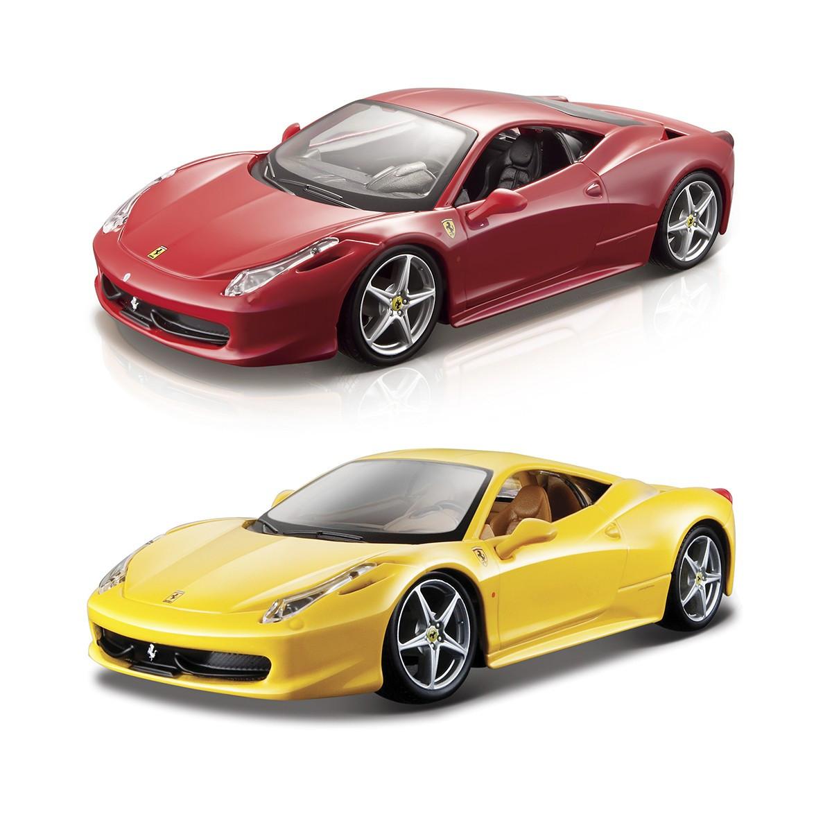 Автомодель - 458 Italia (1:24) (асорті жовтий, червоний)