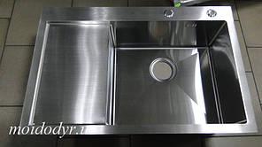 """Мойка кухонная ТМ """"МойДом"""" 510/780/220R из нержавеющей стали 1,2мм (чаша справа)"""
