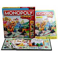 Настольные  игры Монополия Junior детские Hasbro 6115834
