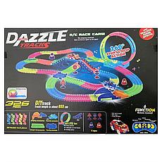 Детская гоночная трасса Dazzle Tracks 326 с машинкой на пульте + ПОДАРОК: Настенный Фонарик с регулятором, фото 3
