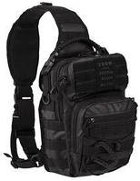 Pюкзак Mil-Tec однолямочный TACTICAL BLACK ONE STRAP ASSAULT PACK SMALL  (14059188), Германия, фото 1
