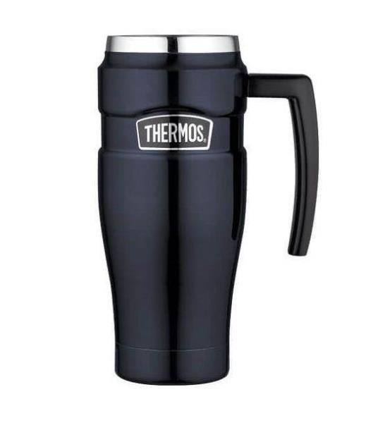 Thermos Stainless King Travel Mug, Midnight Blue, 470 ml